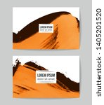 set of vector business card... | Shutterstock .eps vector #1405201520