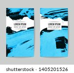set of vector business card... | Shutterstock .eps vector #1405201526