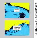 set of vector business card... | Shutterstock .eps vector #1405201529