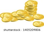an illustration of a messy coin | Shutterstock .eps vector #1405209806