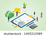financial audit concept with... | Shutterstock .eps vector #1405213589