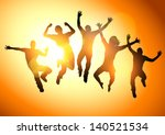 active,adults,energy,expression,feeling,fitness,freedom,friends,good,group,happy,healthy,illustration,jumping,life