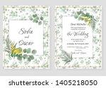 vector template for wedding... | Shutterstock .eps vector #1405218050