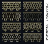 set of golden seamless borders  ... | Shutterstock .eps vector #1405219460