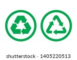 recycle icon vector. recycle... | Shutterstock .eps vector #1405220513