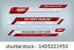 set of broadcast news lower... | Shutterstock .eps vector #1405221953