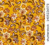 dense floral ornamental hand...   Shutterstock .eps vector #1405226573