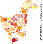 magical floral circle animals... | Shutterstock .eps vector #1405228199