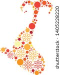 magical floral circle animals... | Shutterstock .eps vector #1405228220