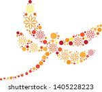 magical floral circle animals... | Shutterstock .eps vector #1405228223
