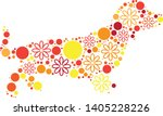 magical floral circle animals... | Shutterstock .eps vector #1405228226