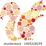 magical floral circle animals... | Shutterstock .eps vector #1405228259