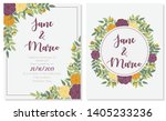 floral vector wedding... | Shutterstock .eps vector #1405233236