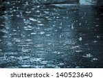 rain drops rippling in a puddle ... | Shutterstock . vector #140523640