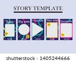 set of five abstract vector... | Shutterstock .eps vector #1405244666