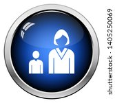 lady boss with subordinate icon.... | Shutterstock .eps vector #1405250069
