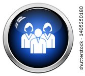 corporate team icon. glossy... | Shutterstock .eps vector #1405250180