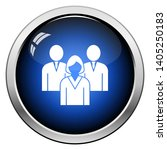 corporate team icon. glossy... | Shutterstock .eps vector #1405250183