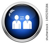 corporate interaction icon.... | Shutterstock .eps vector #1405250186