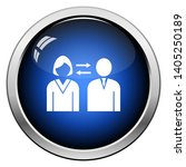corporate interaction icon.... | Shutterstock .eps vector #1405250189