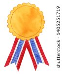 watercolor graduation medal...   Shutterstock . vector #1405251719