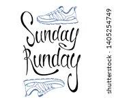 run lettering. running... | Shutterstock .eps vector #1405254749