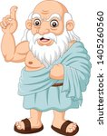 cartoon ancient greek... | Shutterstock .eps vector #1405260560