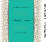 baroque invitation card ... | Shutterstock .eps vector #140526430