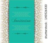 baroque invitation card ... | Shutterstock .eps vector #140526430