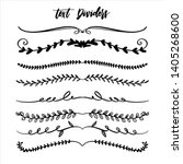 hand drawn vector dividers.... | Shutterstock .eps vector #1405268600