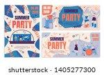 invitation flyer summer party... | Shutterstock .eps vector #1405277300