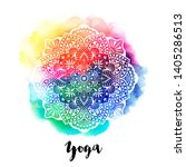 round white mandala oncolorful... | Shutterstock .eps vector #1405286513
