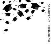 graduate caps on the white...   Shutterstock .eps vector #1405289990