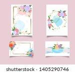 template wedding invite ... | Shutterstock .eps vector #1405290746