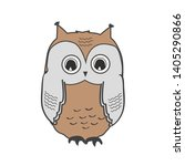cute owl icon isolated on white ... | Shutterstock .eps vector #1405290866