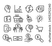 set of money icons. marketing... | Shutterstock .eps vector #1405292240