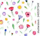 hand drawn watercolor fantasy... | Shutterstock . vector #1405297349