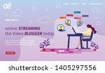 online streaming the video... | Shutterstock .eps vector #1405297556