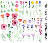 hand drawn watercolor fantasy... | Shutterstock . vector #1405298489