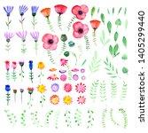 hand drawn watercolor fantasy... | Shutterstock . vector #1405299440