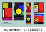 geometric colorful flat summer... | Shutterstock .eps vector #1405300973