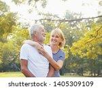 portrait happy elderly couple...   Shutterstock . vector #1405309109