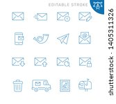 mail related icons. editable... | Shutterstock .eps vector #1405311326