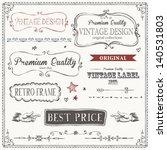 hand drawn banner vintage point ...   Shutterstock .eps vector #140531803