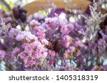 beautiful dried purple and pink ... | Shutterstock . vector #1405318319