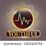 shiny badge with... | Shutterstock .eps vector #1405324796