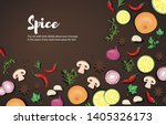 spice and vegetable foods... | Shutterstock .eps vector #1405326173