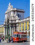 lisbon  portugal   april 14 ... | Shutterstock . vector #1405336079