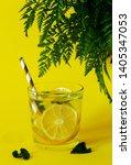 lemonade with fresh lemon.... | Shutterstock . vector #1405347053