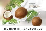 coconut milk splash swirl... | Shutterstock .eps vector #1405348733